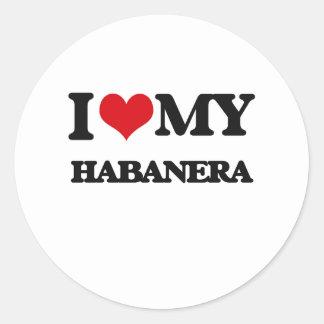 Amo mi HABANERA Pegatinas Redondas