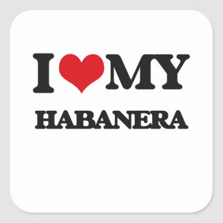 Amo mi HABANERA Colcomanias Cuadradas Personalizadas