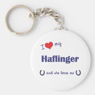 Amo mi Haflinger (el caballo femenino) Llavero Redondo Tipo Pin