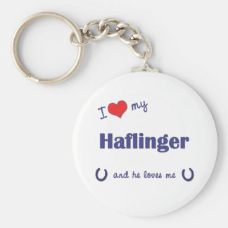Amo mi Haflinger (el caballo masculino) Llavero Redondo Tipo Pin