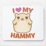 Amo mi Hammy Alfombrillas De Ratones