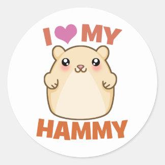 Amo mi Hammy Etiquetas Redondas