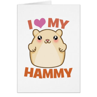 Amo mi Hammy Tarjetas