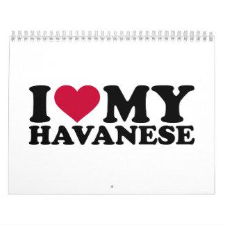 Amo mi Havanese Calendarios De Pared