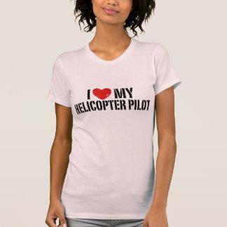 Amo mi helicóptero+Piloto Playeras