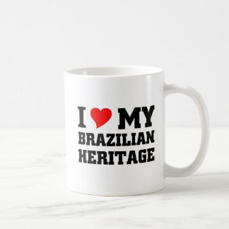 Amo mi herencia brasileña taza clásica