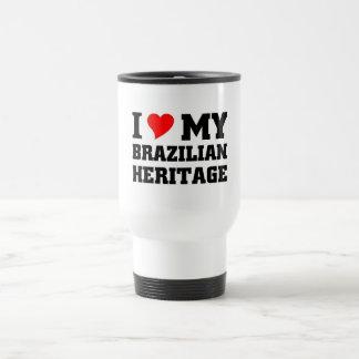 Amo mi herencia brasileña taza térmica