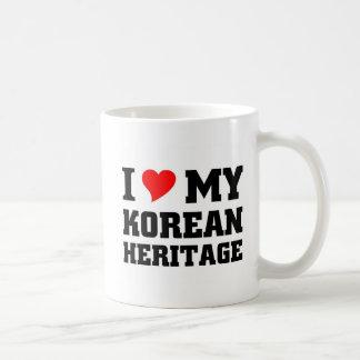 Amo mi herencia coreana taza clásica