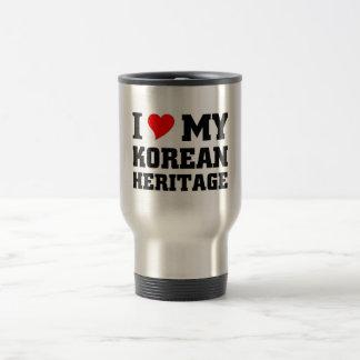 Amo mi herencia coreana taza de viaje