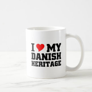Amo mi herencia danesa taza básica blanca