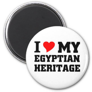 Amo mi herencia egipcia imán de frigorifico