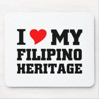 Amo mi herencia filipina alfombrillas de ratones