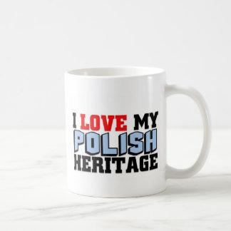 Amo mi herencia polaca taza clásica
