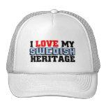 Amo mi herencia sueca gorras de camionero