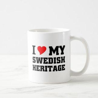 Amo mi herencia sueca taza clásica
