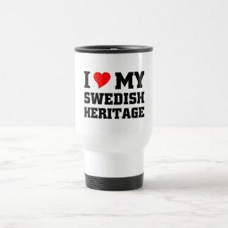 Amo mi herencia sueca taza de viaje
