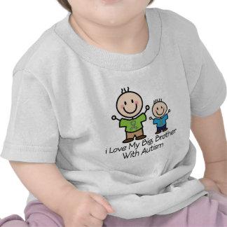 Amo mi hermano mayor con autismo camiseta