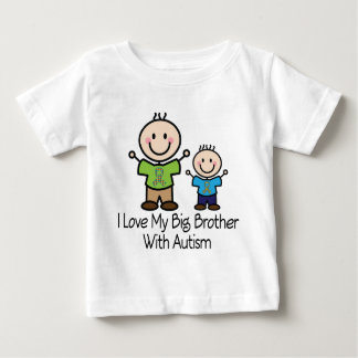 Amo mi hermano mayor con autismo playera de bebé