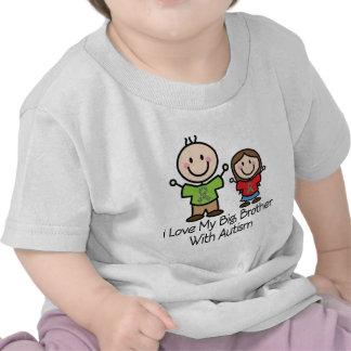 Amo mi hermano mayor con la hermana del autismo camisetas