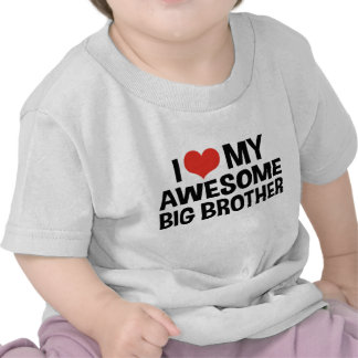 Amo mi hermano mayor impresionante camiseta