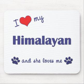 Amo mi Himalayan (el gato femenino) Alfombrilla De Ratones