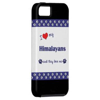 Amo mi Himalayans (los gatos múltiples) Funda Para iPhone 5 Tough