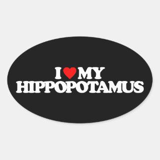 AMO MI HIPPOPOTAMUS COLCOMANIAS DE ÓVAL