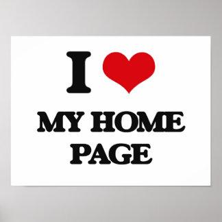 Amo mi Home Page Impresiones