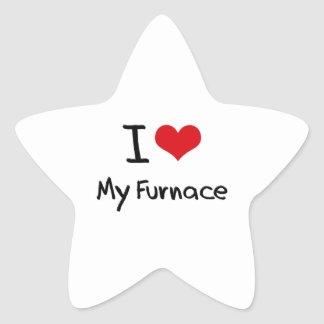 Amo mi horno calcomanía forma de estrella personalizada