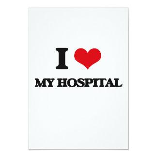 """Amo mi hospital invitación 3.5"""" x 5"""""""