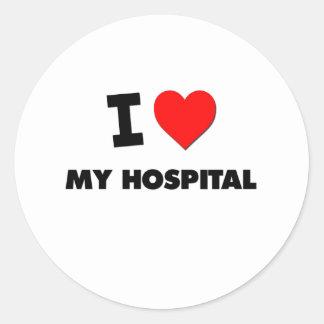 Amo mi hospital pegatinas