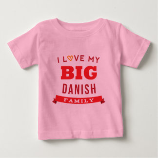Amo mi idea danesa grande de la camiseta de la playera