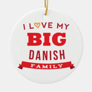 Amo mi idea danesa grande de la camiseta de la reu ornamentos de navidad