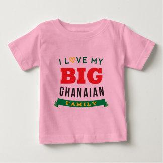 Amo mi idea ghanesa grande de la camiseta de la poleras