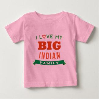 Amo mi idea india grande de la camiseta de la playera para bebé