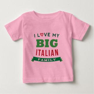 Amo mi idea italiana grande de la camiseta de la playera para bebé