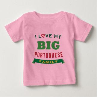 Amo mi identificación portuguesa grande de la camisas