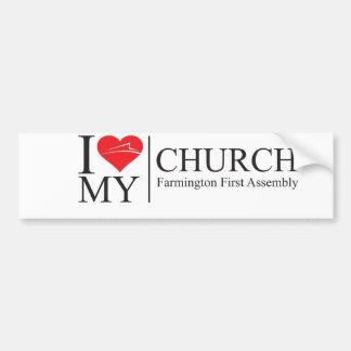 Amo mi iglesia pegatina para auto