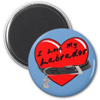 Amo mi imán coloreado Labrador