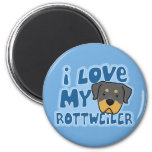 Amo mi imán de Rottweiler
