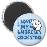 Amo mi imán del Cockatoo del paraguas