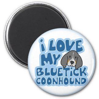 Amo mi imán del Coonhound de Bluetick