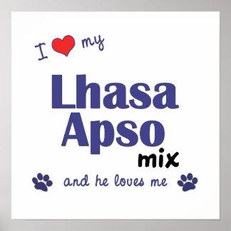 Amo mi impresión del poster de la mezcla de Lasa A