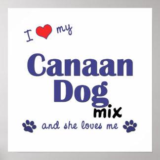 Amo mi impresión del poster de la mezcla del perro