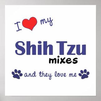 Amo mi impresión del poster de las mezclas de Shih