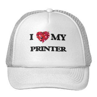 Amo mi impresora gorro de camionero