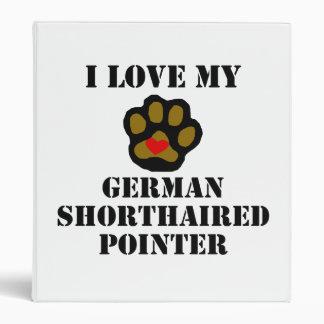 Amo mi indicador de pelo corto alemán