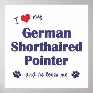 Amo mi indicador de pelo corto alemán el perro ma impresiones