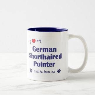 Amo mi indicador de pelo corto alemán (el perro taza de dos tonos