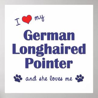 Amo mi indicador de pelo largo alemán el perro fe impresiones